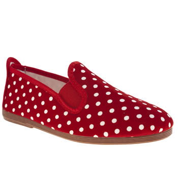 Flossy Red Polka Girls Junior