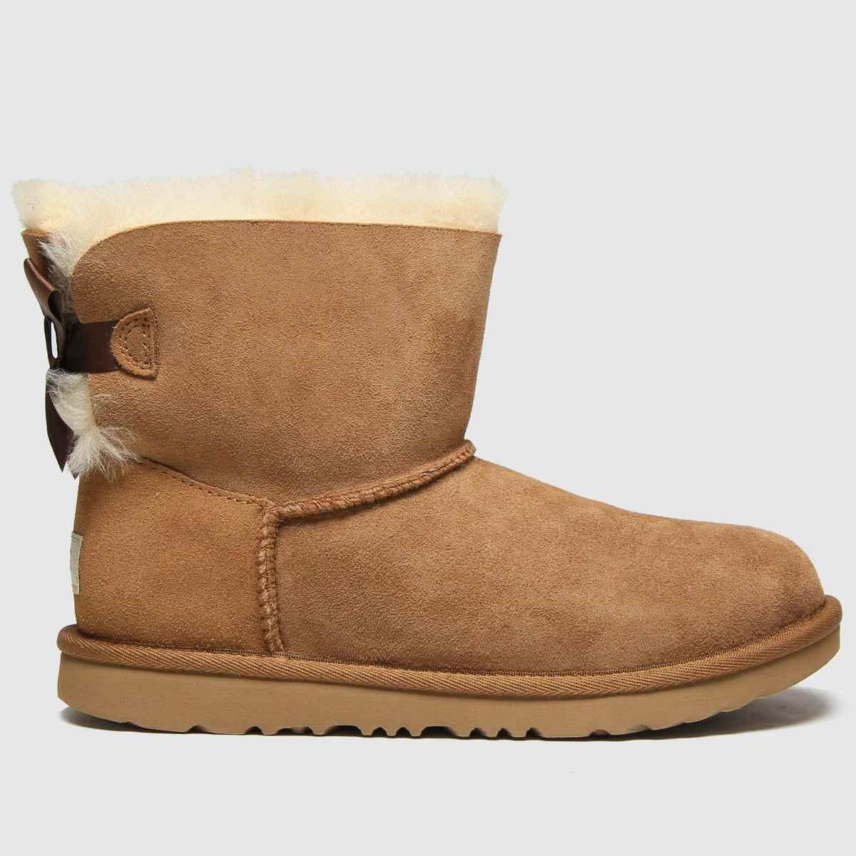 Ugg Tan Mini Bailey Bow Ii Boots Junior