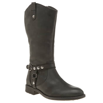Hush Puppies Black Annie Girls Junior