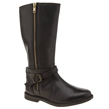 Hush Puppies Black Jess Girls Junior