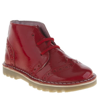 Hush Puppies Red Truer Girls Junior