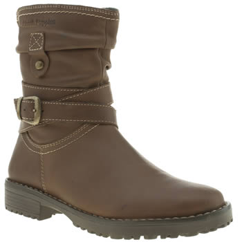 Hush Puppies Brown Luceilie Girls Junior