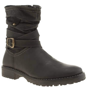 Hush Puppies Black Luceilie Girls Junior