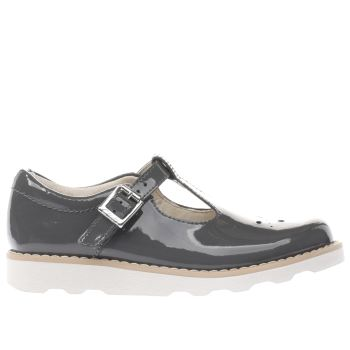 Clarks Grey Crown Wish Girls Junior