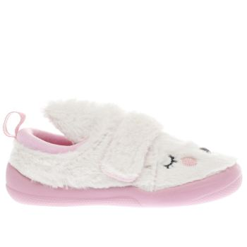 Clarks White Cuba Patch Girls Junior