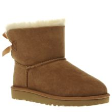 Ugg Australia Tan Mini Bailey Bow Girls Junior