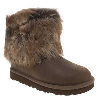 Girls Ugg Australia Dark Brown Ellee Girls Junior