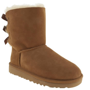 Girls Ugg Australia Tan Bailey Bow Girls Junior
