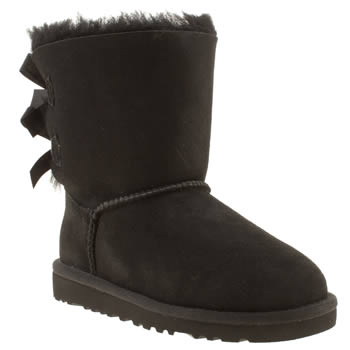 kids ugg australia black bailey bow boots