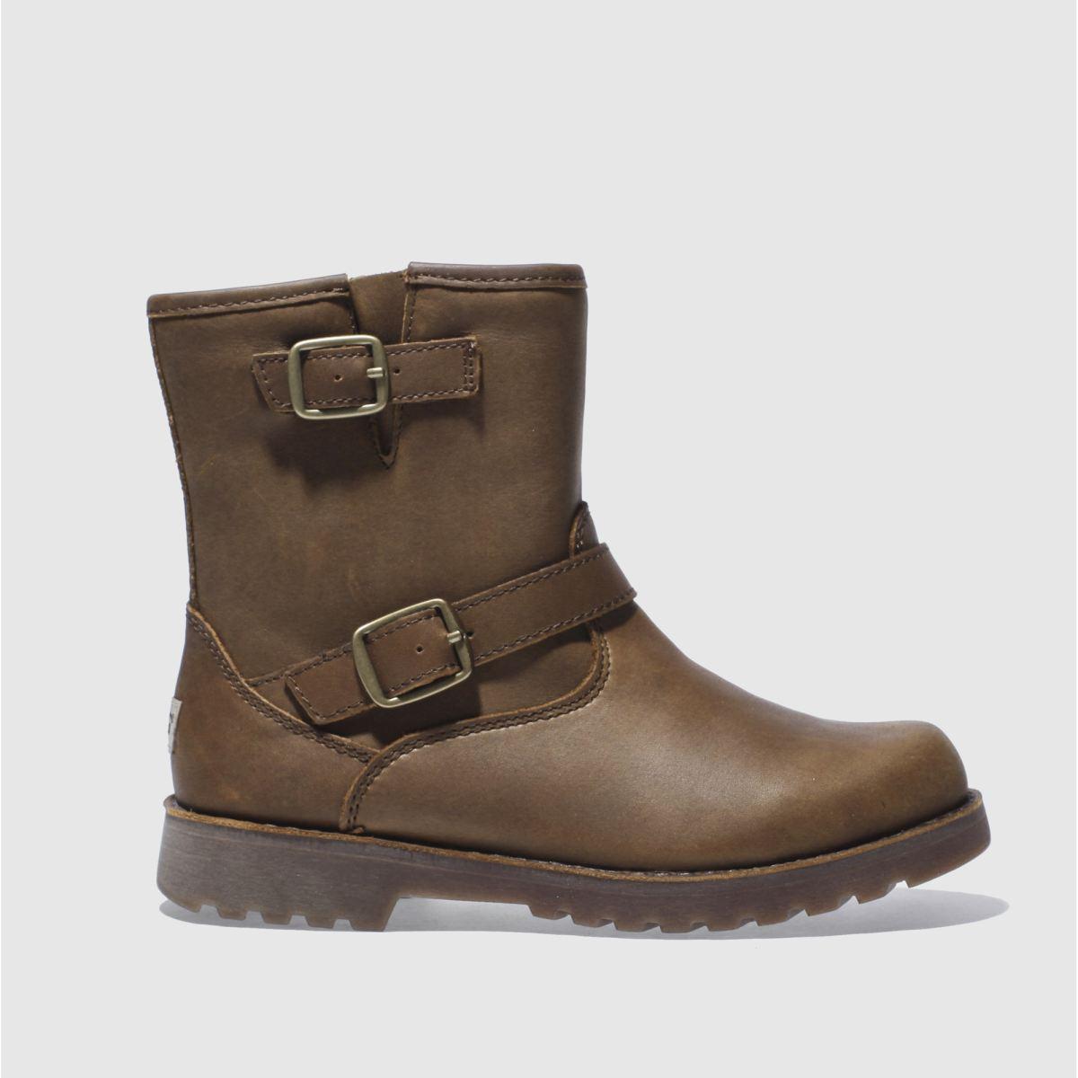 ugg dark brown harwell Girls Junior Boots