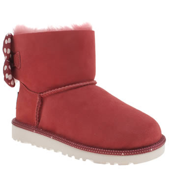 Ugg Australia Red Sweetie Bow Girls Junior