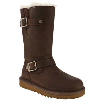 Girls Ugg Australia Dark Brown Kensington Girls Junior