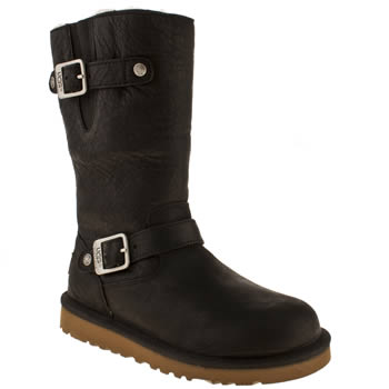 Girls Ugg Australia Black Kensington Girls Junior