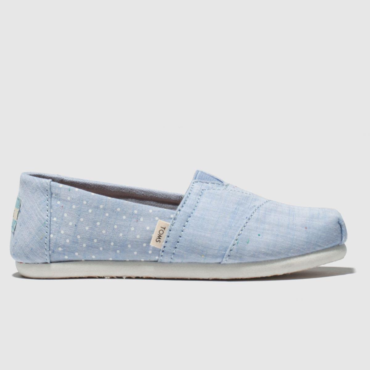 Toms Pale Blue Classic Boots Junior
