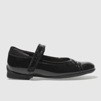 Clarks Black Movello Lo Girls Junior