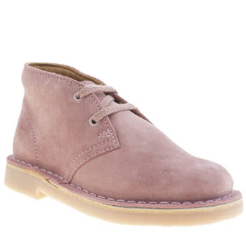 Clarks Originals Pale Pink Desert Boot Girls Junior