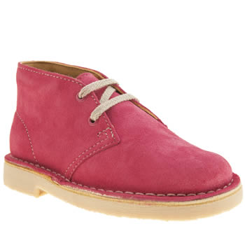 Clarks Originals Pink Desert Boot Girls Junior