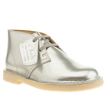 Clarks Originals Silver Desert Boot Girls Junior