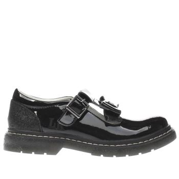 LELLI KELLY  BLACK JULIA T BAR GIRLS JUNIOR SHOES