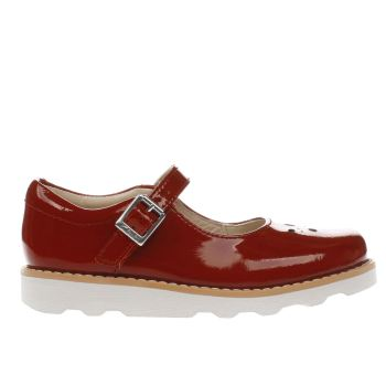 Clarks Red CROWN POSY Girls Junior