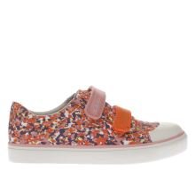 Clarks Pink & Orange Brill Ice Girls Junior