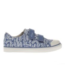 Clarks Pale Blue Brill Ice Girls Junior