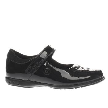 Clarks Black Trixie Rose Girls Junior