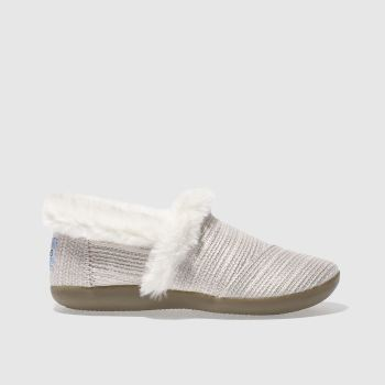Toms Pale Pink HOUSE SLIPPER Girls Junior