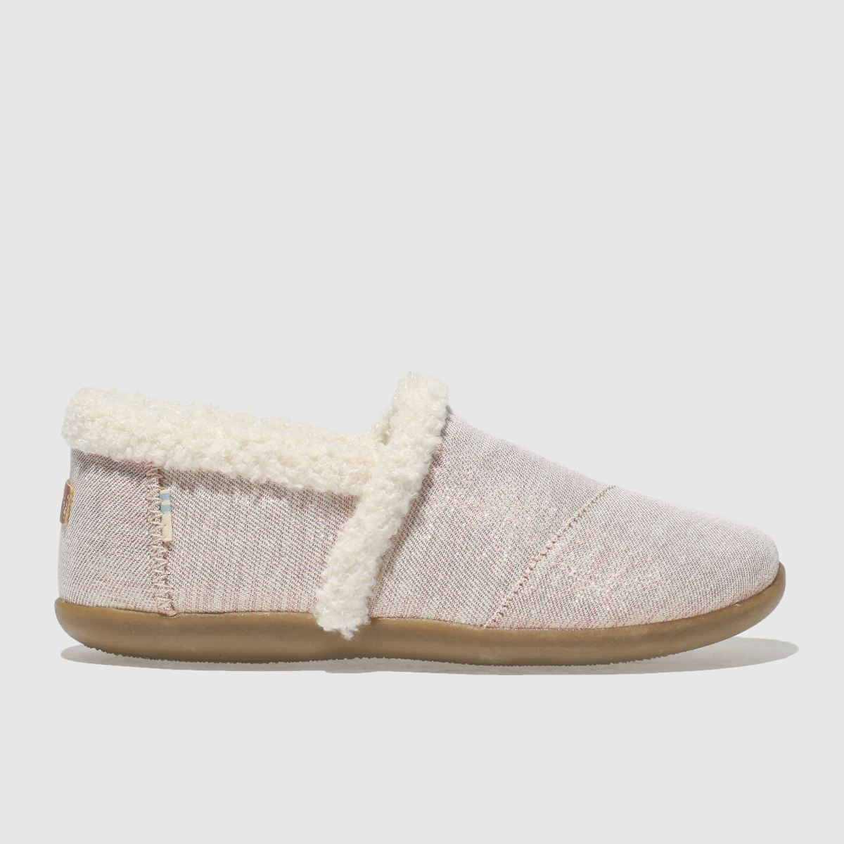 Toms Pink House Slipper Boots Junior