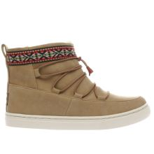 Toms Tan Alpine Boot Girls Junior