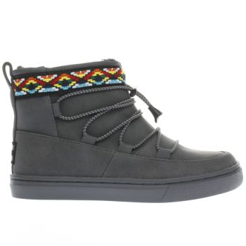 Toms Grey Alpine Boot Girls Junior