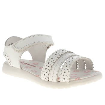 Hush Puppies White Oakham Girls Junior