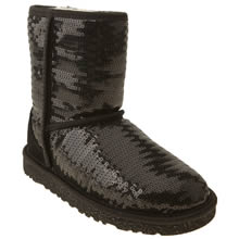 Junior Black Ugg Australia Classic Short Sparkles