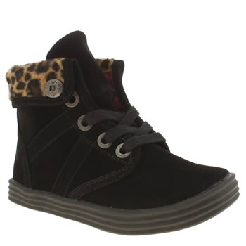 Blowfish Black & Brown Ritz Boot Girls Junior