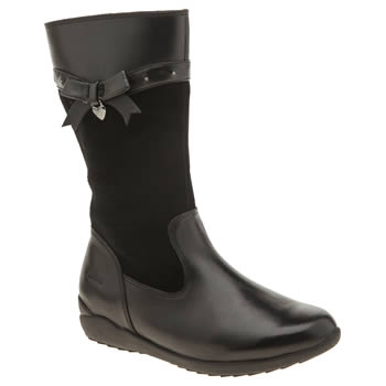 Clarks Black Ting Chic Girls Junior
