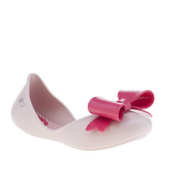 kids zaxy pale pink start bow boots