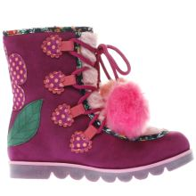 Irregular Choice Pink & Purple Mini Warmer Girls Junior