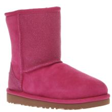 Ugg Australia Pink Classic Short Serein Girls Junior