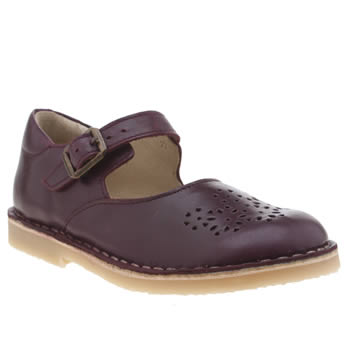 Young Soles Burgundy Delilah Girls Junior