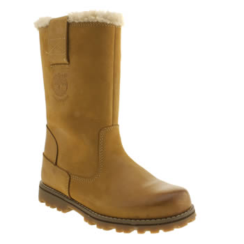 Timberland Tan 8 Inch Pull On Girls Junior