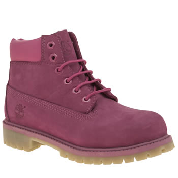 Timberland Magenta 6 Inch Premium Girls Junior