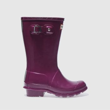 Hunter Purple Original Gloss Girls Junior