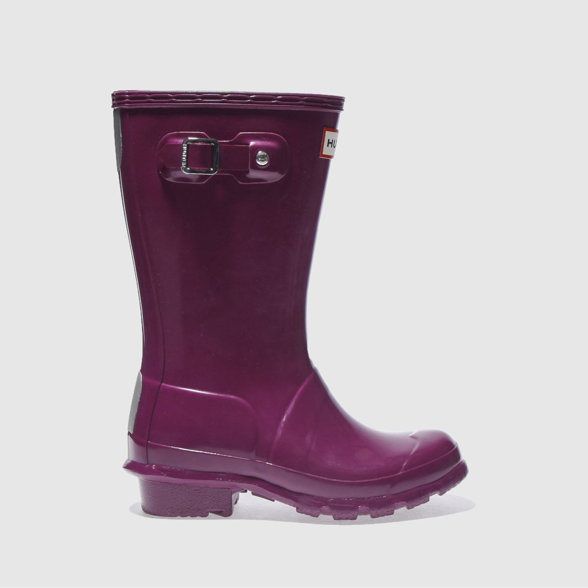 hunter purple original gloss Girls Junior Boots