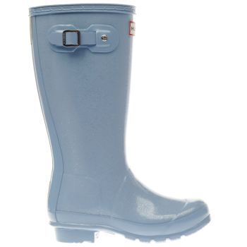 Hunter Pale Blue ORIGINAL GLITTER Girls Junior