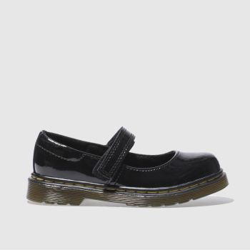 Girls Dr Martens Black Maccy Girls Junior