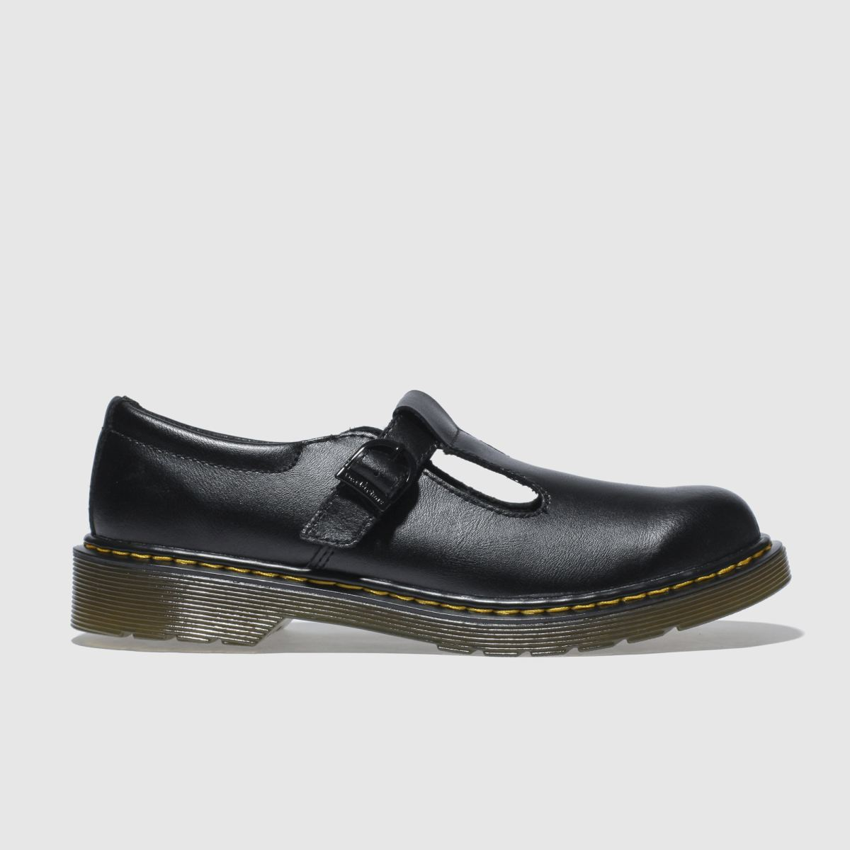 Dr Martens Black Polley Boys Youth Shoes