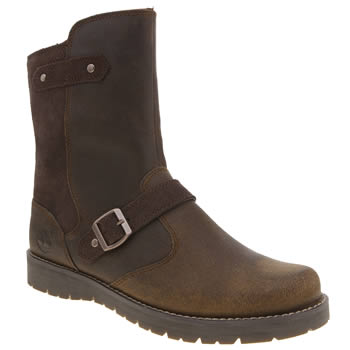 Timberland Dark Brown Kidder Hill Mid Girls Youth