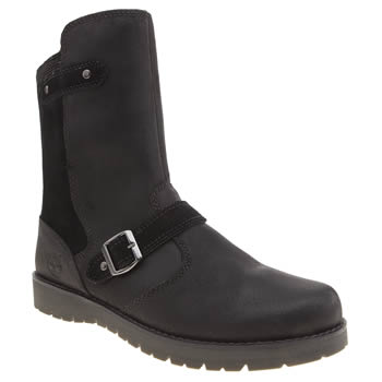Timberland Black Timb Kidder Hill Mid Yth Girls Youth