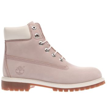 Timberland Pink 6 Inch Classic Girls Youth