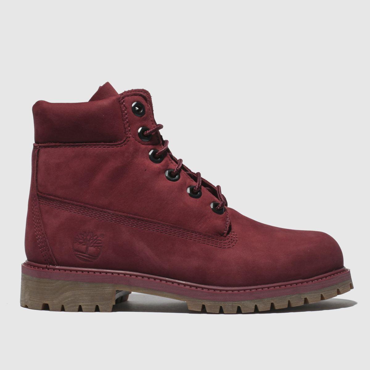 Timberland Burgundy Timb Inch Premium Boots Youth